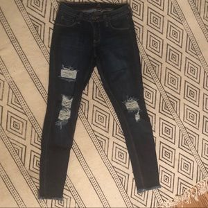 Just Black distressed skinny jeans